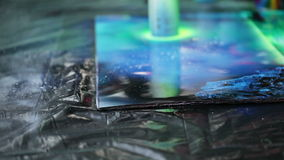 Drawing spray paint stock video footage