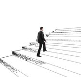 Drawing stairs Royalty Free Stock Photo