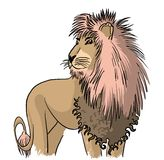 Drawing standing lion Royalty Free Stock Photos