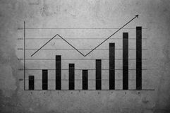 Drawing stock chart Royalty Free Stock Photography