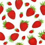 Drawing of strawberryes on the white background royalty free illustration