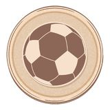 Drawing style soccer football border Royalty Free Stock Photo