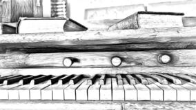 Free Drawing Style That Represents A Detail Of An Ancient Pedal Organ Royalty Free Stock Photos - 191610418