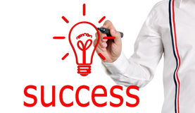 Drawing success Stock Photography