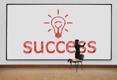 Drawing success symbol Stock Image