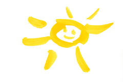 Drawing sun Stock Image