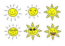 Drawing of sun Stock Photos