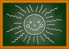 Drawing of sun Royalty Free Stock Photography