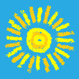 Drawing of sun Royalty Free Stock Image