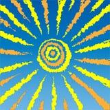 Drawing of sun Stock Image