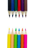 Drawing supplies: assorted color pencils Stock Image