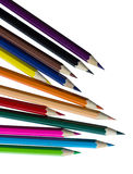 Drawing supplies: assorted color pencils Royalty Free Stock Photo