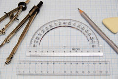 Drawing supplies Royalty Free Stock Photography
