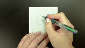 Drawing the symbol Big Hug stock footage