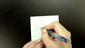 Drawing the symbol Tongue stock video