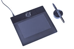 Drawing tablet with pen Royalty Free Stock Images