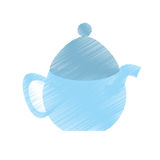 Drawing tea pot porcelan coffee Royalty Free Stock Image