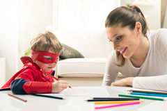 Drawing together Royalty Free Stock Photo