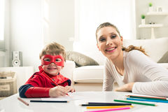 Drawing together Stock Images