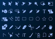 Drawing tool icon set art. Vector design of drawing tool icon stock illustration