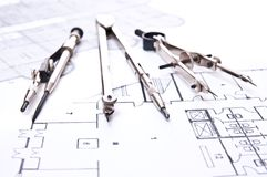 Drawing tools Royalty Free Stock Photo