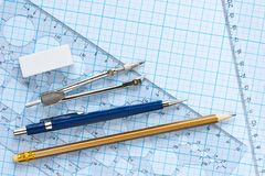 Drawing tools background Royalty Free Stock Photography