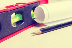 Drawing tools closeup Royalty Free Stock Image