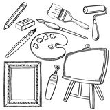 Drawing Tools Collection Stock Image