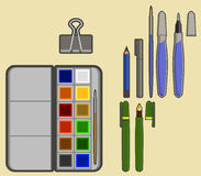 Drawing tools Royalty Free Stock Photos