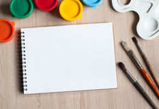 Drawing tools on a desk Stock Photos