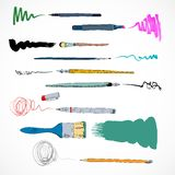 Drawing tools icon sketch Royalty Free Stock Images