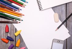 Drawing tools Royalty Free Stock Images