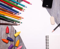 Drawing tools Stock Images