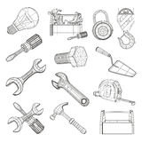 Drawing tools set Royalty Free Stock Image