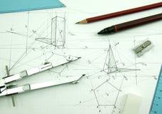 Drawing tools Stock Photo