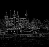 Drawing Tower of London Stock Images