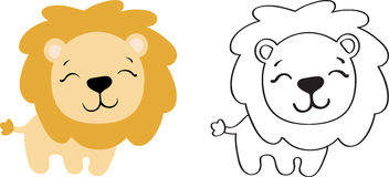 Drawing of a toy lion Royalty Free Stock Photos