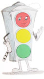 Drawing traffic light Stock Images