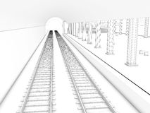 Drawing the train station #3 Stock Photography