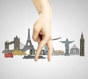 Drawing travel concept Royalty Free Stock Image