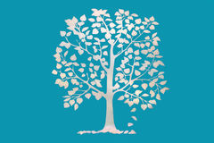 Drawing tree Royalty Free Stock Photography