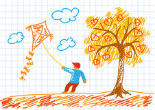 Drawing of tree Royalty Free Stock Images