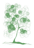 Drawing of a tree with foliage scrawled Royalty Free Stock Photo