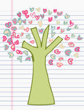 Drawing tree of heart Stock Image