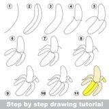 Drawing Tutorial Banana Stock Vector Illustration Of Preschool
