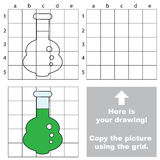 Drawing tutorial for kids. Educational kid game. Copy the picture using grid sells, vector kid educational game for preschool kids, the drawing tutorial with Stock Images