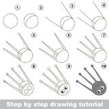 Drawing tutorial for preschool children. Royalty Free Stock Photography
