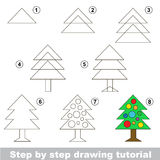Drawing tutorial. Stock Images