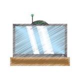 Drawing tv modem antenna signal Stock Photos