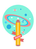 Drawing the universe. Creativity and back to school concept Stock Image
